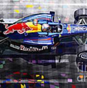 Red Bull Rb6 Vettel 2010 Poster