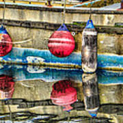 Red Buoy Reflections Of Alaska Poster