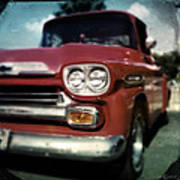 Red Chevy Pickup Poster