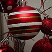Red Christmas Balls Poster