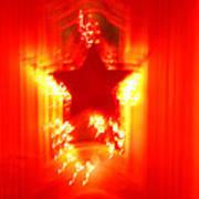 Red Christmas Star Poster by Gaspar Avila