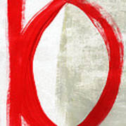 Red Circle 5- Abstract Painting Poster