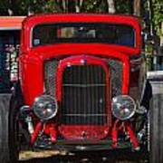 Red Classic Hotrod Poster