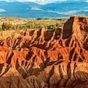 Red Desert Hills Poster