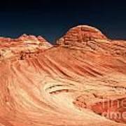 Red Desert Swirls Poster