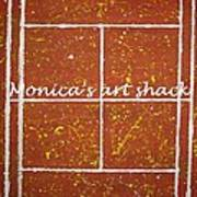 Red Dirt Of A Tennis Court Poster by Monica Art-Shack