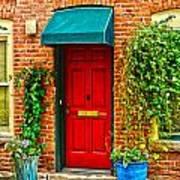Red Door 2 Poster by Baywest Imaging