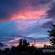 Red Evening Arizona Sky Poster