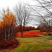 Red Field Autumn Poster