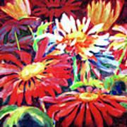 Red Floral Mishmash Poster