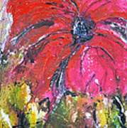 Red Flower - Abstract Painting Poster