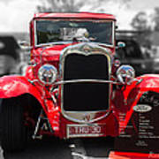 Red Ford Ute Poster