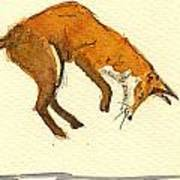 Red Fox Hunting Poster