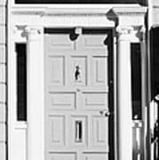 Red Georgian Door With Brass Letterbox Door Knob And Knocker In Dublin Poster