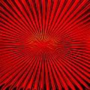 Red Glass Abstract 4 Poster