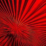 Red Glass Abstract 6 Poster