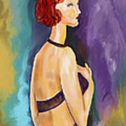 Red Headed Woman Poster by Sydne Archambault