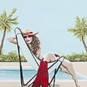Red Hot Poster by Nickie Bradley