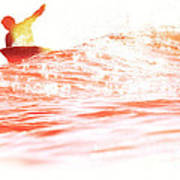 Red Hot Surfer Poster