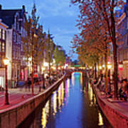 Red Light District In Amsterdam Poster
