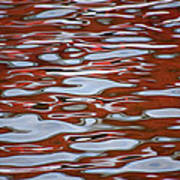 Red Meditation Poster