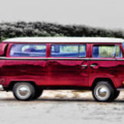 Red Microbus Poster