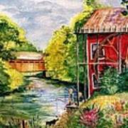 Red Mill At Waupaca Poster