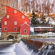 Red Mill Clinton New Jersey Poster