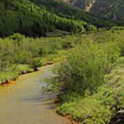 Red Mountain Creek - Colorado  Poster by Mike McGlothlen