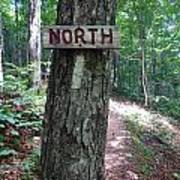 Red North Sign Poster