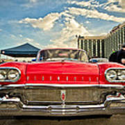 Red Oldsmobile  Poster by Merrick Imagery