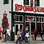 Red Onion Saloon Poster