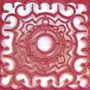Red Ornamental Design. Poster by Slavica Koceva