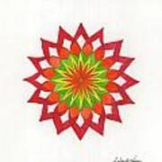 Red Passion Mandala Poster