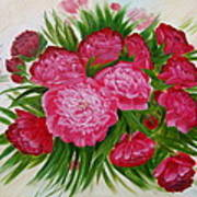 Red Peonies Poster