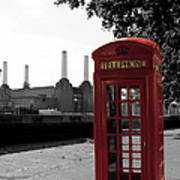 Battersea Power Station And The Red Phone Box Poster
