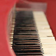 Red Piano Poster
