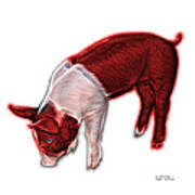Red Piglet - 0878 Fs Poster