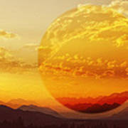 Red Planet Sunset Poster
