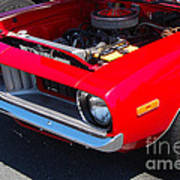 Red Plymouth Barracuda Poster