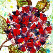 Red Purple Flower Poster