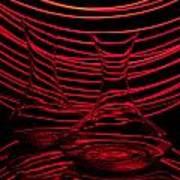 Red Rhythm II Poster by Davorin Mance