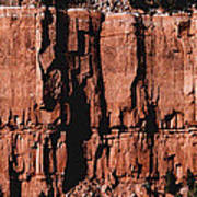 Red Rock Wall Poster