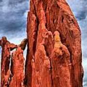 Red Rocks Against Blue Skies Poster