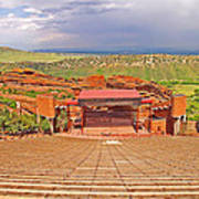 Red Rocks Park Amphitheater - Centered View Poster