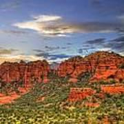 Red Rocks Sunset Poster