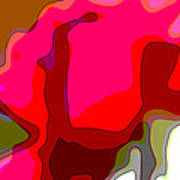 Red Rose Abstract Poster