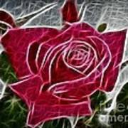 Red Rose Expressive Brushstrokes Poster