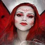 Red Rose Fairy Poster