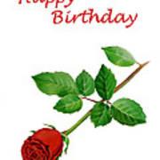 Red Rose Happy Birthday  Poster